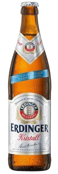 Erdinger Kristall marca alemana cerveza